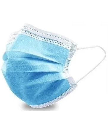Barbijo Descartable Tricapa con elastico Y clip nasal por 50 unidades  Barbijos