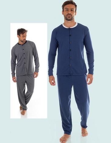 Pijama hombre abotonado T48/54 MARIENE
