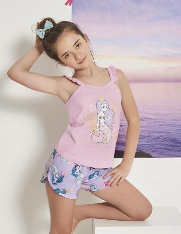 Pijama de nena en jersey musculosa y short T4/12 MARCELA KOURY