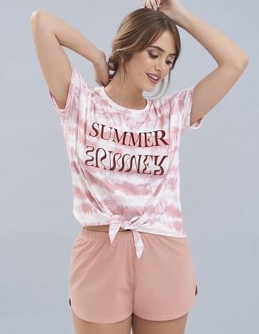 Pijama en jersey remera y short TS/L MARCELA KOURY