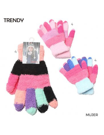 Guantes Adulto Pack x 12 Surtidos TRENDY