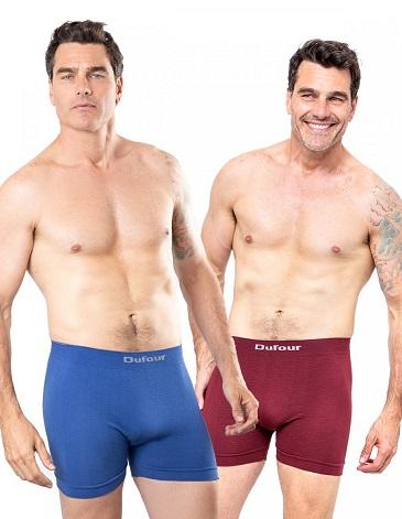 Boxer sin costura labrado T S AL XXXL -  DUFOUR
