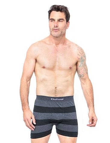 Boxer sin costura rayado T S AL XXL -Algodon y Lycra DUFOUR