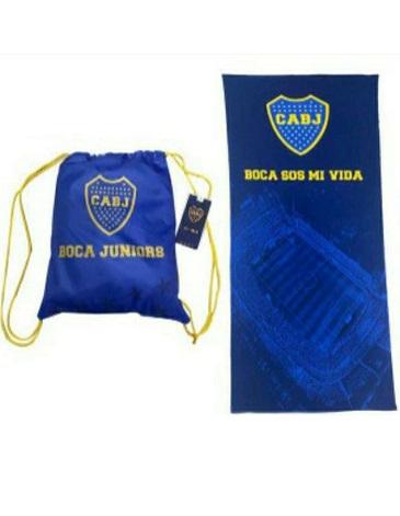 Toallon estampado Boca Juniors BLANCO PARIS